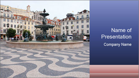Lisbon area PowerPoint Template