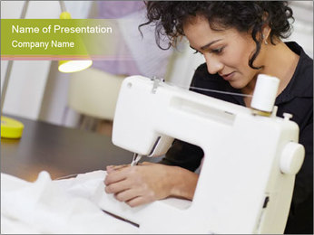 Young hispanic female PowerPoint Template