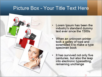 Portrait of a young businesswoman PowerPoint Template - Slide 17