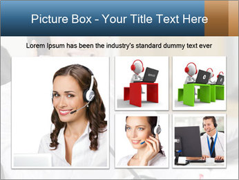 Portrait of a young businesswoman PowerPoint Template - Slide 19
