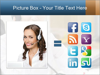 Portrait of a young businesswoman PowerPoint Template - Slide 21