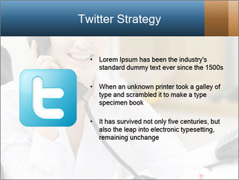Portrait of a young businesswoman PowerPoint Template - Slide 9