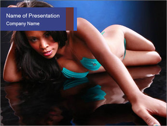 Cute black girl PowerPoint Template