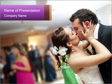 Just married couple PowerPoint Template