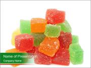 Jelly fruit candies on white backrgound PowerPoint Templates