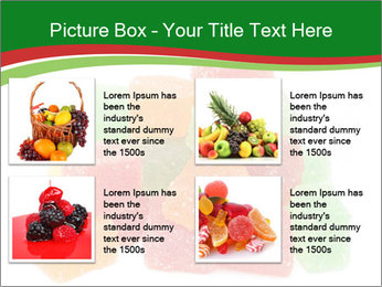 Jelly fruit candies on white backrgound PowerPoint Template - Slide 14
