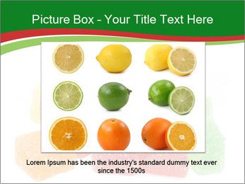 Jelly fruit candies on white backrgound PowerPoint Template - Slide 15