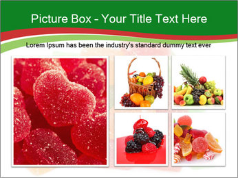 Jelly fruit candies on white backrgound PowerPoint Template - Slide 19