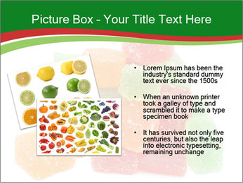 Jelly fruit candies on white backrgound PowerPoint Template - Slide 20