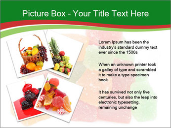 Jelly fruit candies on white backrgound PowerPoint Template - Slide 23