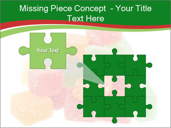 Jelly fruit candies on white backrgound PowerPoint Template - Slide 45