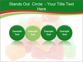 Jelly fruit candies on white backrgound PowerPoint Template - Slide 76