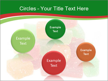 Jelly fruit candies on white backrgound PowerPoint Template - Slide 77
