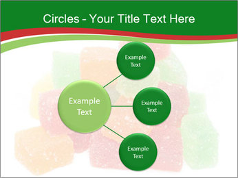 Jelly fruit candies on white backrgound PowerPoint Template - Slide 79