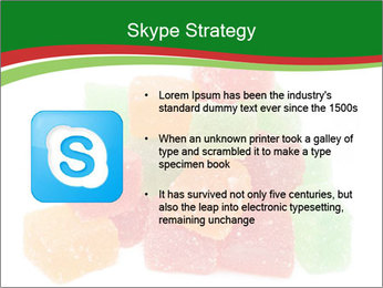 Jelly fruit candies on white backrgound PowerPoint Template - Slide 8