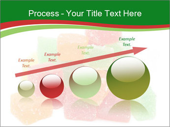 Jelly fruit candies on white backrgound PowerPoint Template - Slide 87
