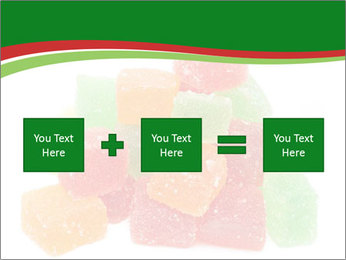 Jelly fruit candies on white backrgound PowerPoint Template - Slide 95