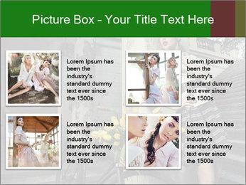 Beauty brunette PowerPoint Template - Slide 14
