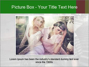 Beauty brunette PowerPoint Template - Slide 15