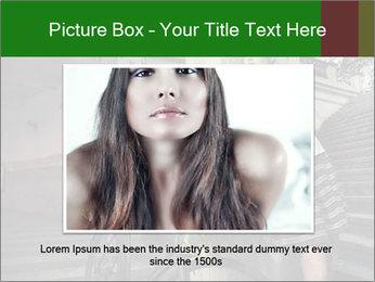 Beauty brunette PowerPoint Template - Slide 16