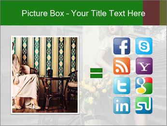 Beauty brunette PowerPoint Template - Slide 21