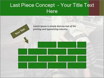 Beauty brunette PowerPoint Template - Slide 46