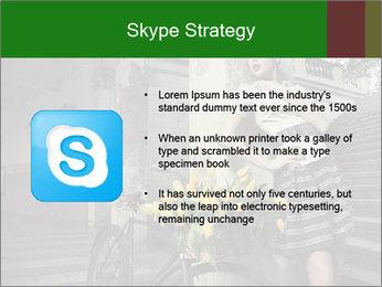 Beauty brunette PowerPoint Template - Slide 8