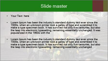 Beauty brunette PowerPoint Template - Slide 2