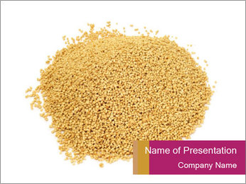 A pile of soy lecithin granules PowerPoint Template