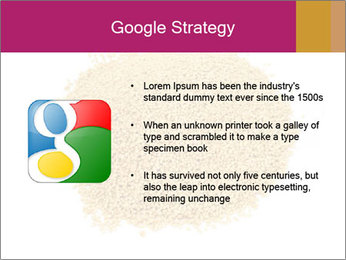 A pile of soy lecithin granules PowerPoint Templates - Slide 10