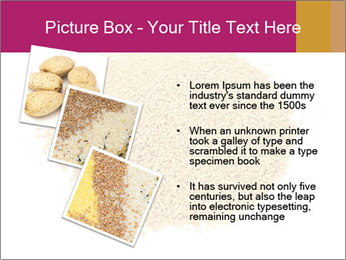 A pile of soy lecithin granules PowerPoint Template - Slide 17