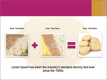 A pile of soy lecithin granules PowerPoint Template - Slide 22