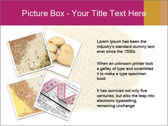 A pile of soy lecithin granules PowerPoint Template - Slide 23