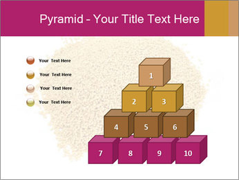 A pile of soy lecithin granules PowerPoint Template - Slide 31