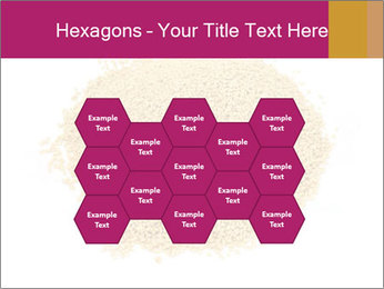 A pile of soy lecithin granules PowerPoint Template - Slide 44