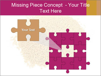 A pile of soy lecithin granules PowerPoint Template - Slide 45