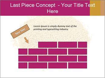 A pile of soy lecithin granules PowerPoint Template - Slide 46