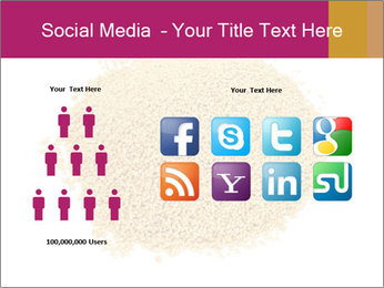 A pile of soy lecithin granules PowerPoint Template - Slide 5