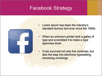 A pile of soy lecithin granules PowerPoint Template - Slide 6
