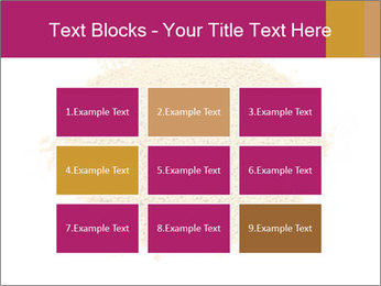 A pile of soy lecithin granules PowerPoint Template - Slide 68