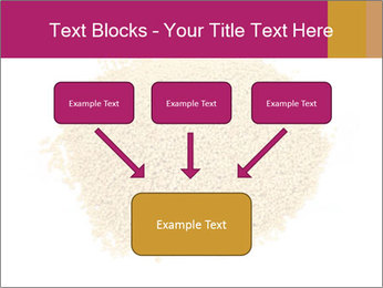 A pile of soy lecithin granules PowerPoint Template - Slide 70
