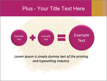 A pile of soy lecithin granules PowerPoint Template - Slide 75