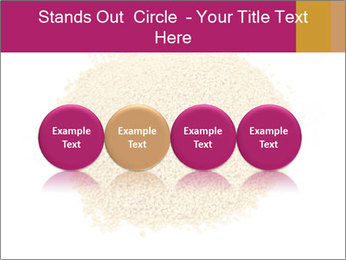 A pile of soy lecithin granules PowerPoint Template - Slide 76