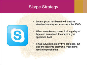 A pile of soy lecithin granules PowerPoint Template - Slide 8
