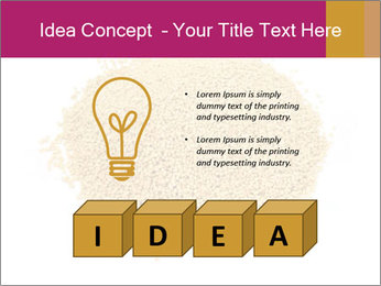 A pile of soy lecithin granules PowerPoint Template - Slide 80