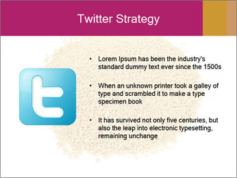 A pile of soy lecithin granules PowerPoint Template - Slide 9