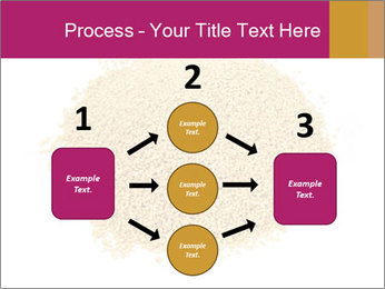A pile of soy lecithin granules PowerPoint Template - Slide 92