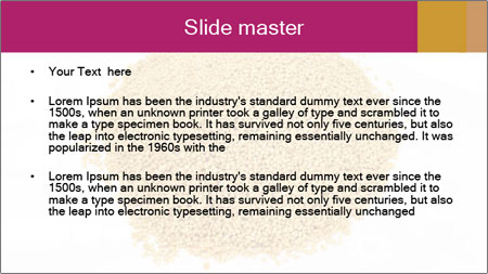 A pile of soy lecithin granules PowerPoint Template - Slide 2
