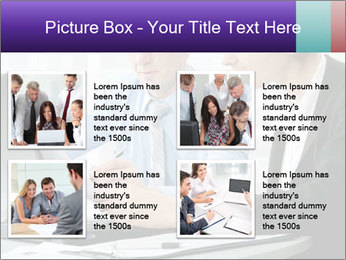 Business people at the office PowerPoint Template - Slide 14