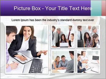 Business people at the office PowerPoint Template - Slide 19